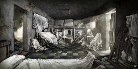 Concept art de la película 'The Limits of Control' de Jim Jarmusch. Concept de Raúl Monge