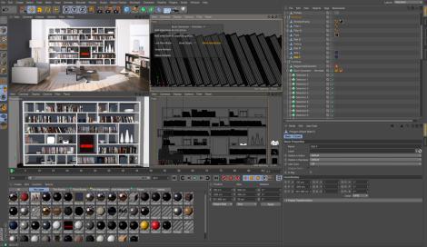 Entorno de trabajo de Cinema 4D